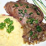 recette Foie de porc déglacé au Cognac et écrasée de pommes de terre