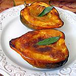 recette Acorn squash rôtie au miel et à la moutarde