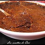 recette Crème brûlée au chocolat truffée de nougat