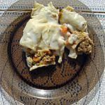 recette Rigatoni farcies aux 2 sauces : bolognaise et béchamel