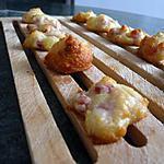 recette Bouchées parmesan-lardons