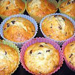 Muffins pépites de chocolat et banane