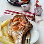 recette Côtes de veau à la bayonnaise