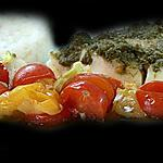 recette Papillotte express Cabillaud Pesto et Tomates !