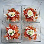 recette Verrine de Saumon sur une mousse de boursin