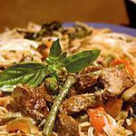 recette Bœuf au curry vert et lait de coco