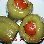recette Poivrons farcis à la turque