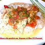 recette blanc de poulets au légumes et ras el hanout