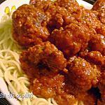 recette ~Spaghettis aux boulettes de viande~