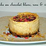 recette Ooo Cheesecake au chocolat blanc, rose & violette ooO