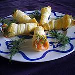 recette Cornet au saumon fumé