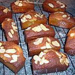 recette Mini cakes miel, amandes et pépites de chocolat...
