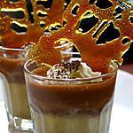 recette Verrine duo de crèmes chocolat et marron