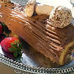 recette Buche creme chocolat et ses champignons de meringue