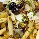 recette Penne aux aubergines et  tomates sechées au parmesan
