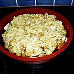 recette crumble poulet au curry et aux pommes
