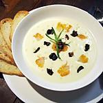 recette Soupe de panais à l'estragon, haddock et chanterelles...