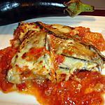 recette Mille-Feuille d'Aubergines Dinde(veau) mozzarella