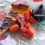 """recette tarte au""""libouli"""" ananas peches au miel de lavande"""