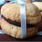 recette Baisers des dames à la noix de coco, ganache chocolat
