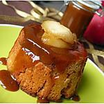 recette Mini-charlottes de pain d'épice aux pommes, sauce caramel
