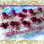 recette buche au framboise et caramel beurre salé