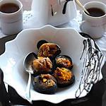 recette Figues farcies aux amandes en manteau de chocolat