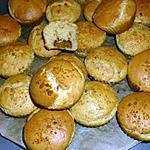 recette Muffins au coeur de crème de speculoos.