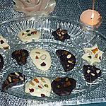 recette PALET AU CHOCOLAT(mendiants)