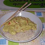 recette Sauté de Crevette sauce Curry Coco et son Riz