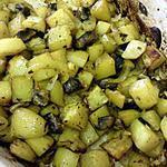 recette pommes de terre et champignons doré au four
