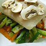 recette Papillotte de lieu de mer aux légumes de provence