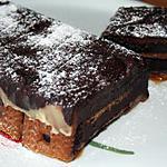 recette Bûche chocolat spéculos sur lit de caramel