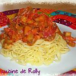 recette Pasta aubergines, coppa, piment
