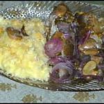 recette Merlan aux champignons, accompagné d'une purée de pommes de terre