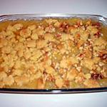 recette crumble aux pommes et noix