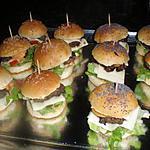 recette apéritif dinatoire mini hamburger maison
