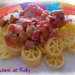recette Pasta aubergines, jambon cru, ricotta