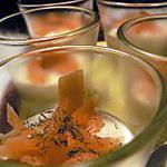 Verrines de saumon à la Ricotta