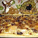 recette PIZZA SUCREE AUX FRUITS D'AUTOMNE