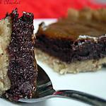 """recette ** Tarte """" CHILI """" :  Mousse cuite au chocolat noir avec une pointe de piment et son caramel de banane **"""