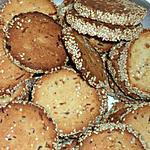 recette PETITS BISCUITS AUX GRAINES DE SESAME