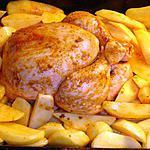 recette Poulet au four et ses pommes de terre