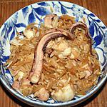 recette Tentacules de calamar façon Nasi Goreng