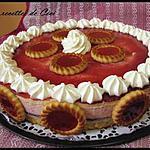 recette Entremet aux 2 mousses fraise et mascarpone au chocolat blanc