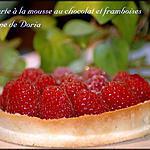 recette Petites tartes à la mouse au chocolat et framboises