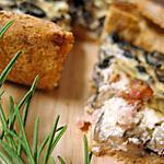 recette Quiche au mélange de champignons, lardons, boursin au lait ribot