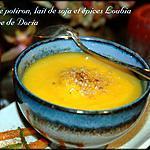 recette Velouté de potiron au lait de soja et épices Loubia