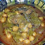 recette TAJINE DE CELERI A LA VIANDE (SAUCE ROUGE)