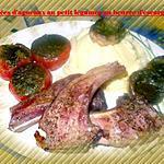 recette grillé d'agneaux au petit légumes au beurre d'escargot